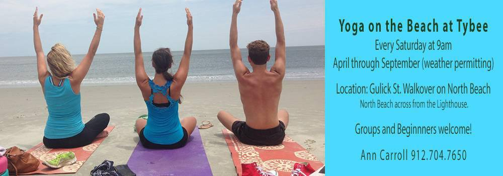 Yoga on the Beach at Tybee